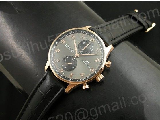 new improved 29j version-new iwc portuguese chrono rosegold/leder schweiz a-7750 new improved