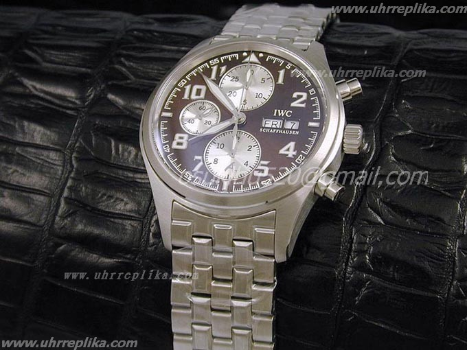 iwc st exupery chronograph Brown-New fakes uhren