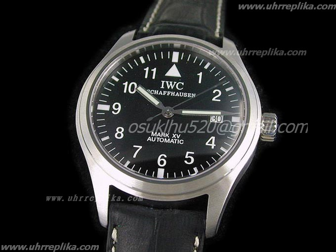 iwc replica swiss movement watches Mark XV schwarzes Num Eta