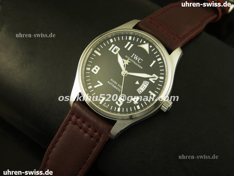 iwc replica swiss movement watches Mark XV schwarzes Num